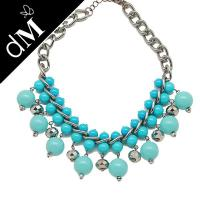 Buy cheap Blue elegant & unique fashion design beaded handcrafted necklaces for women (JNL0136 ) from wholesalers