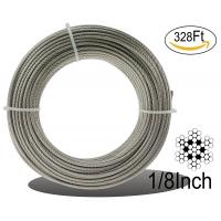Buy cheap Stainless Aircraft Steel 7x7 Wire Rope Cable For Railing / Decking / Diy Balustrade, 1/8inch from wholesalers