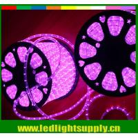 Buy cheap 2 wire pink color led decoration light rope christmas lights from wholesalers