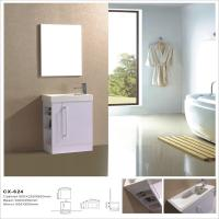 Buy cheap Side Open MDF Bathroom Cabinet With Mirror , Stand Alone Bathroom Vanity from wholesalers