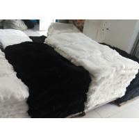 Buy cheap Custom Real Soft Rex Rabbit Skin Fur Washable Heavy Density For Genuine Blanket from wholesalers