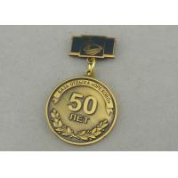 Buy cheap Zinc Alloy Custom Awards Medals Die Costing Antique Gold Double Side 3D Military from wholesalers