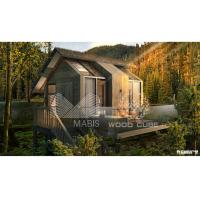 Buy cheap Light Steel Structure Prefabricated Log Cabin , Anti Seismic Prefab Log Houses from wholesalers