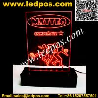 Buy cheap LED Acrylic Edge-Lit Sign Base from wholesalers