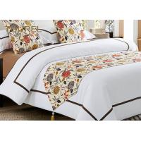 Buy cheap Polyester Cushion 100% Cotton Hotel Bed Runners White Plain Bed Sheet Set from wholesalers