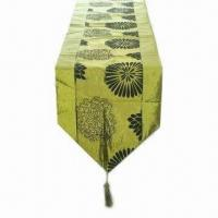 Buy cheap Plain Flocking Table Runner/Table Cloth, Made of 100% Plain Flocking Polyester from wholesalers