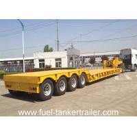 Buy cheap 4 Axle Low Bed Heavy Duty Gooseneck Trailer for Forest / Oilfield Industries from wholesalers