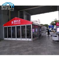 Buy cheap Durable Outdoor Exhibiton Marquee Party Tent With Red Roof Glass Wall Flame Retardant from wholesalers