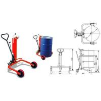 Buy cheap Drum lifter, 250/550kg oil drum truck with two big size rollers and one caster wheel from wholesalers