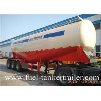 China 3 Axle 40 ton V type Bulk Cement Trailer tank truck for fly ash transportation on sale