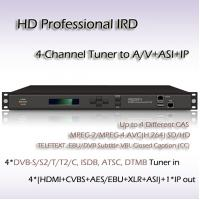 Buy cheap Digital TV 4-Channel HD Professional IRD ISDB-T Demodulation SD/HD MPEG-2 and MPEG-4 AVC/H.264 digital video decoding from wholesalers