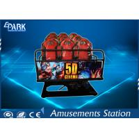 Buy cheap Truck Mobile Electronic 5D Movie Theater Simulator 2 Epson Projectors 6 Seats from wholesalers