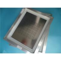 Buy cheap Laser Stencil SMT 0.12mm thick with aluminum frame Application for BGA, CSP, QFP from wholesalers