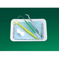 Buy cheap 3 In 1 Disposable Dental Examination Kit With Probe Mouth Mirror Forceps from wholesalers