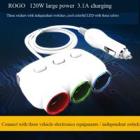 Buy cheap hot selling car cigarette lighter socket and plug with dual usb charger from wholesalers