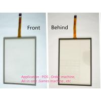 Buy cheap Resistive Transparent 5 Wire Touch Glass Screen 10 Inches With Black Spongia from wholesalers