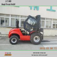 Buy cheap 3.5Ton 4wheel drive off-road forklift truck with EUIII engine from wholesalers
