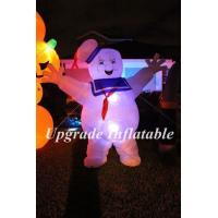 Buy cheap Customized 3m H led lighting inflatable stay puft marshmallow man for party,event decoration from wholesalers