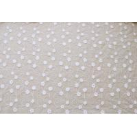 Buy cheap 51'' Width White Embroidered Tulle Nylon Lace Fabric , Floral Stretch Lace Fabric product