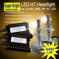 China 70W 6400lm Sealed beam H7 LED car headlight bulbs, MT-G2 CREE LED on sale