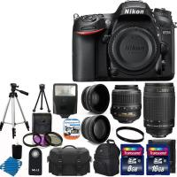 Buy cheap Nikon D7200 Digital SLR Camera +4 Lens 18-55mm VR 70-300 +24GB Best Value Bundle from wholesalers