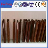 Buy cheap 6000 Series wood look aluminum rectangular tube / aluminium square pofiles from wholesalers