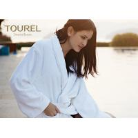 Buy cheap Customised Terry Waffle Velour Hotel Quality Bathrobes White Blue Pink Color from wholesalers