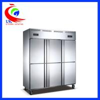Buy cheap Hotel used stainless steel 6 door commercial fridge freezer double temperature from wholesalers