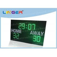 Buy cheap Green Color Led Digits with White Color Stickers Led Football Scoreboard for football field from wholesalers