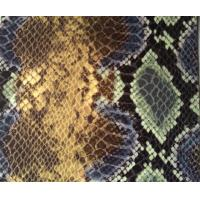 Buy cheap Colorful Pattern Snakeskin Vinyl Upholstery Fabric For Luggage Material from wholesalers