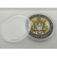 Buy cheap 3D Custom Commerce Iron / Brass / Copper Awards Coin with Clear Plastic Box from wholesalers