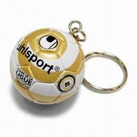 Buy cheap Fancy Miniature Football Keychain/Mini Soccer Ball Keyring, Available for Logo Printing product