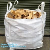 Buy cheap pp big bulk woven polypropylene bags wholesale geotextile sand bag,pp woven jumbo big bag for wood chip/ 1ton 2 ton wood from wholesalers