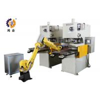 Buy cheap PLC / MMI Control Hydraulic Punching Machine With Robot Manipulator product