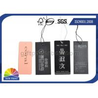 Buy cheap Logo Luxurious swing tag printing Eyelet custom hang tags for clothing / Apparel Belt from wholesalers