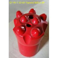 Buy cheap Q7-45-7 22-60 Tapered Button Bit for quarrying from wholesalers