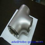Sus304 304L 316 316L Stainless Steel Tee , 1-48 inch steel pipe tee