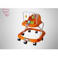 Buy cheap Orange Foldable Baby Walker Three Height Adjustment 6 Months - 3 Years Old from wholesalers