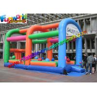 Buy cheap 18OZ  Adult Inflatable Wipeout Sport Game , Wipe Out Obstacle Coure For Outdoor from wholesalers