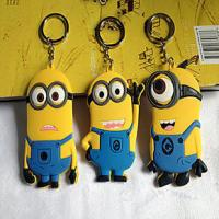 Buy cheap high quality cheap price custom logo soft pvc rubber  personalized minion dave keychain with cool &cute design from wholesalers