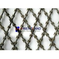 Buy cheap High Tensile Core Security Razor Wire Fence 0.45mm Blade Thickness Difficult To Cut product