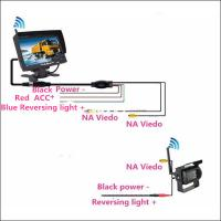 Buy cheap Caravan parking assist tool Wireless CMOS Truck Reverse Camera with 7 inch LCD monitor product