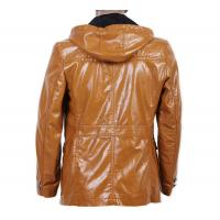 Buy cheap Stylish, Black / Coffee / brown / orange  Urban Hooded PU Leather Coat for Men product