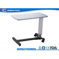 Buy cheap Medical Movable Adjustable hospital bedside tables with Wheels for Clinic , Home from wholesalers
