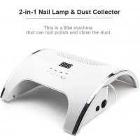 Buy cheap 80W Uv Nail Lamp 2 In 1 Nail Lamp and Nail Dust Collectors Machine from wholesalers