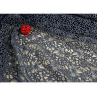 Buy cheap Flower Water Soluble Polyester Guipure Lace Fabric By The Yard Highly Stain Resistant from wholesalers