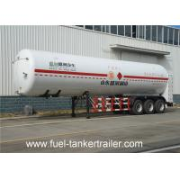 Buy cheap Flammable liquid transport LNG Semi Trailer , LPG Oil Tanker trailer from wholesalers