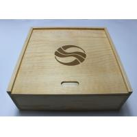 Buy cheap Custom Decorative WWooden Box With Sliding Lid , Pine Storage Box Natural Style from wholesalers