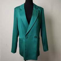 Buy cheap Tencel Women's Casual Blazers Pink / Green Optional With Padded Shoulders product