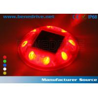 PC Material Solar Road Stud Led Cats Eyes With Li - On Battery